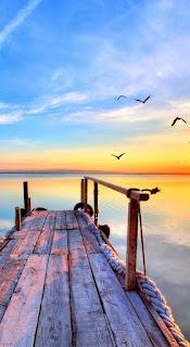 Wallpaper Pantai sunset