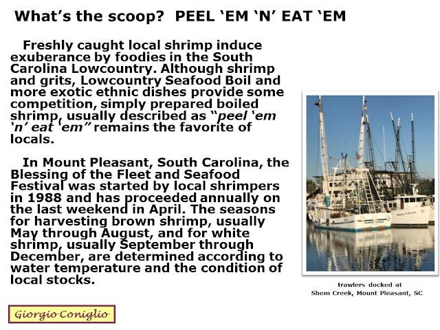 cuisine; seafood; shrimp; Mt. Pleasant; South Carolina; Giorgio Coniglio