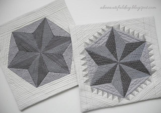 abeeautifulday.blogspot.com-pillow covers using Geta Grama's pattern -Illusions II-