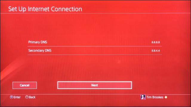 قم بإعداد DNS المخصص لنظام PS4