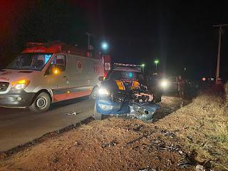 Na Cidade de Monteiro-PB,  o indevido furou um bloqueio da PRF, e colidiu com uma viatura