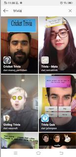 Trivia filter instagram | Cara mendapatkan Filter trivia Quiz instagram