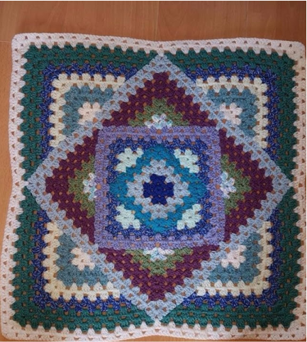 Crochet Kaleidoscope Square