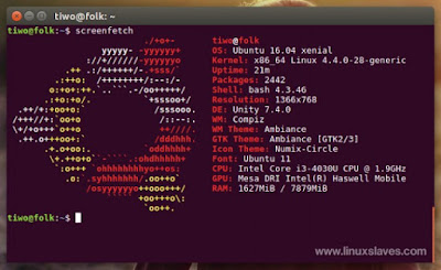 Screenfetch, display details information in terminal Linux