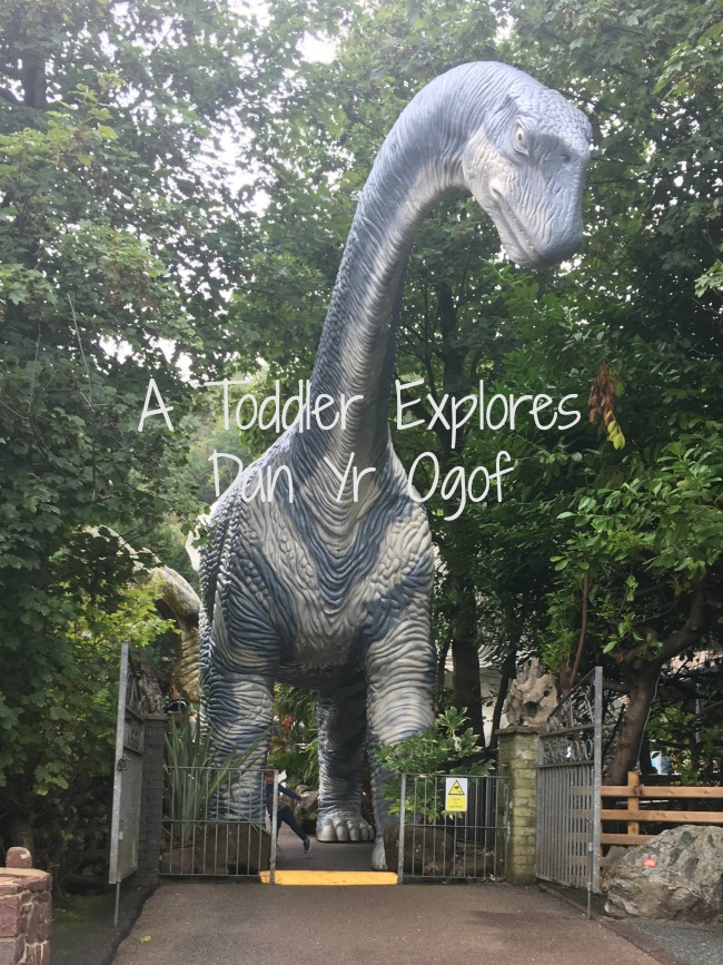 a-toddler-explores-dan-yr-ogof-text-over-image-of-dinosaur