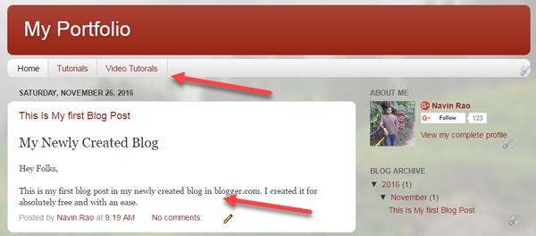 Create A Blog Using Blogger
