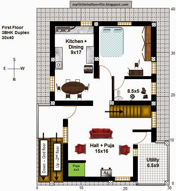 My Little Indian Villa 40 R33 1bhk And 3bhk In 30x40