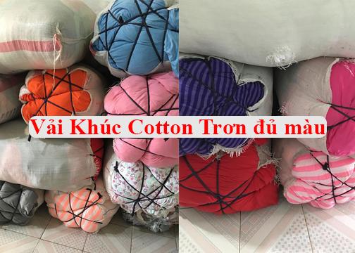 hình ảnh vải khúc cotton đủ màu may đồ trẻ em- cotton 100%