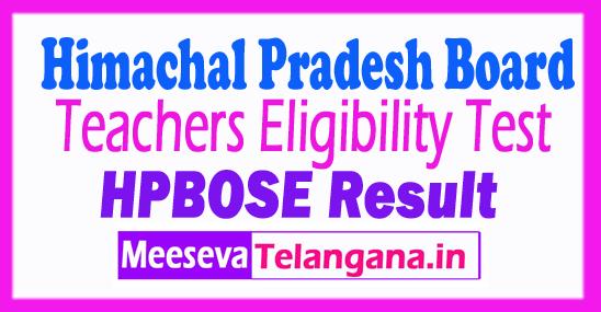 TET Result 2018 Himachal Pradesh TGT JBT L.T hpbose