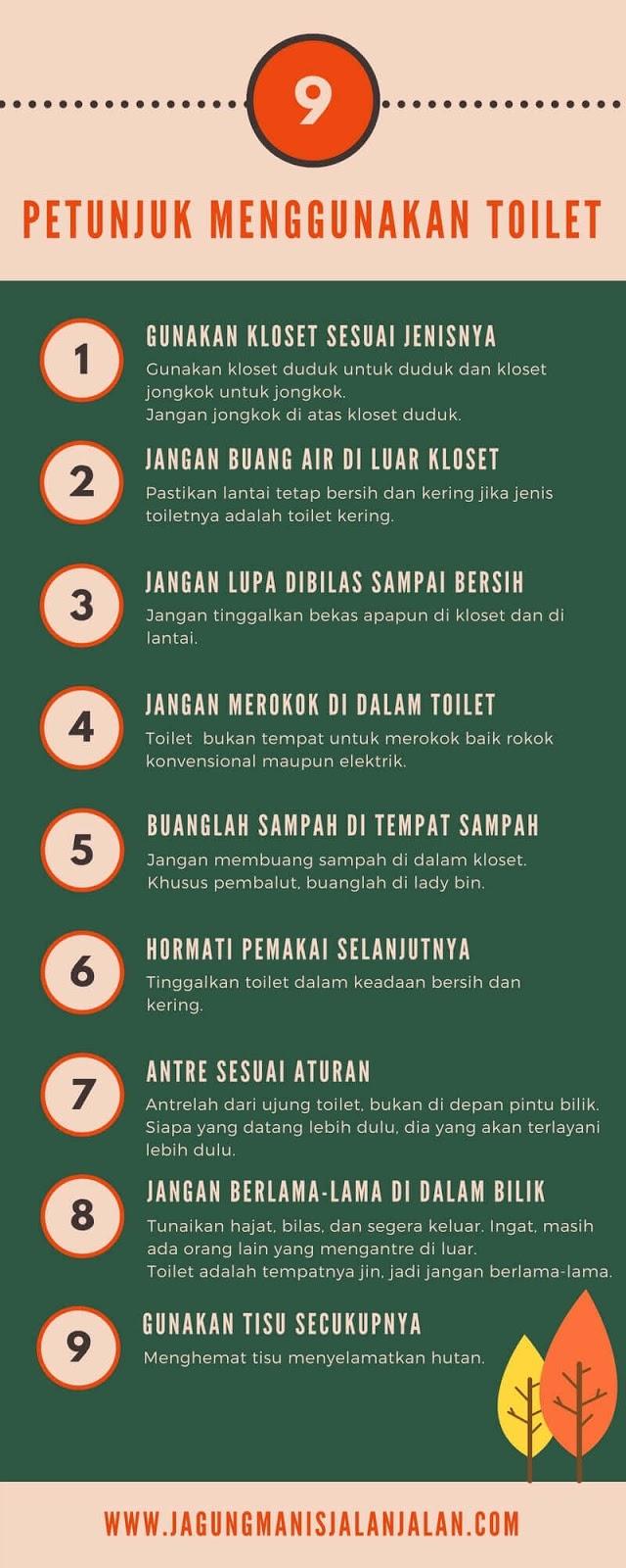 petunjuk penggunaan toilet umum