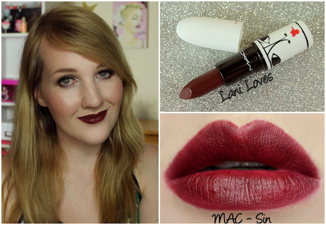 MAC Sin lipstick swatch