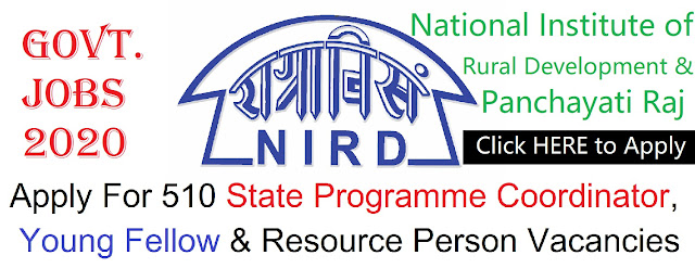 NIRD Recruitment for 510 Posts