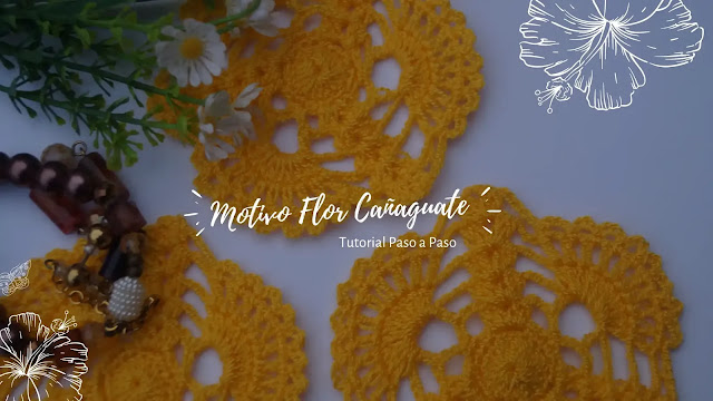 Tutorial Motivo Flor de Cañaguate a Crochet