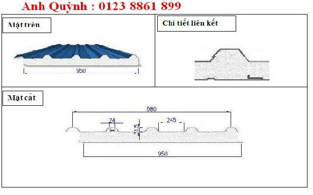 Công ty sản xuất tôn cách nhiệt eps uy tín giá rẻ.Tỉ trọng panel EPS từ 10kg/m3 đến 20kg/m3.