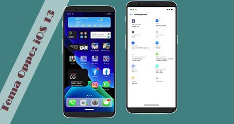 Tema Oppo: IOS 13 New Theme Oppo ColorOs 7 Tembus Aplikasi