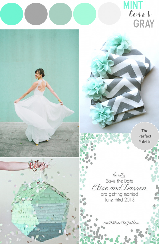 Color Story Mint Loves Gray The Perfect Palette