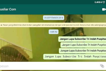 Cara Membuat Tulisan Di Whatsapp Jadi Bold, Miring dll Tanpa Aplikasi Tambahan