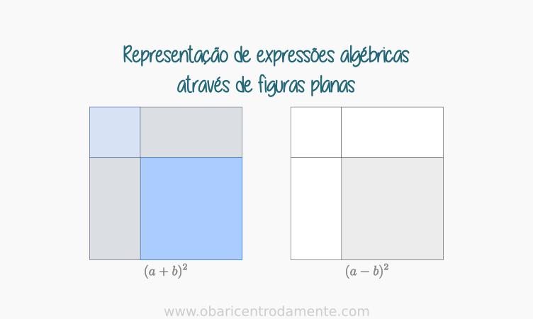 Representação de expressões algébricas através de figuras planas