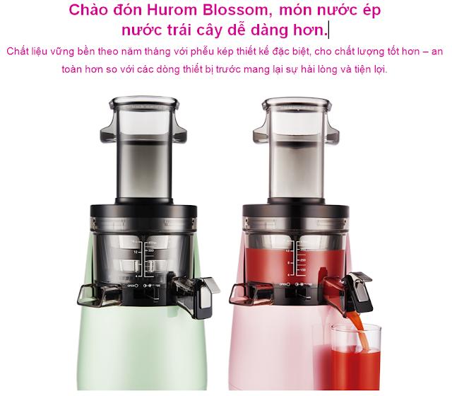 Máy ép ra - HUROM BLOSSOM Chào đám Hurom Blossom, món nước ép nước của anh.  mua tại lgvietnam.top