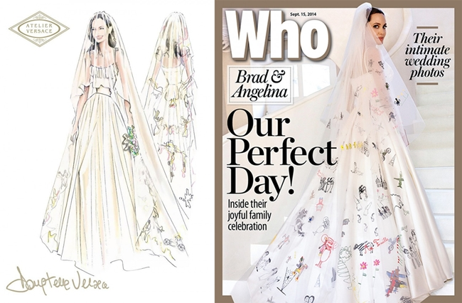 cf. Dolce & Gabbana 2015 AW Children's Painting in White Gown