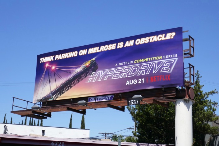 Hyperdrive parking on melrose billboard