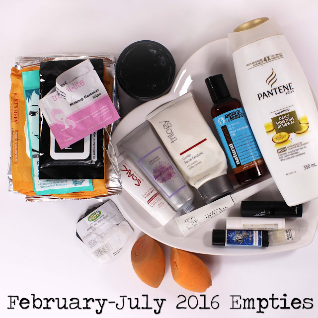 February - July 2016 Empties