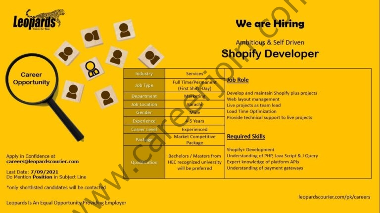 Jobs in Leopard Courier