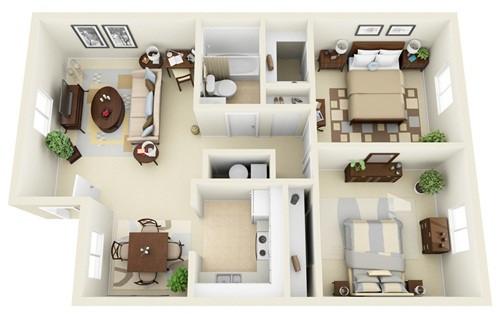 Phòng ngủ cạnh bếp 6