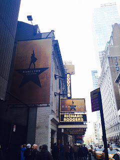 Hamilton at the Richard Rodgers Theater