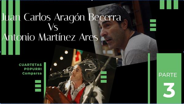 Juan Carlos Aragón Vs Antonio Martinez Ares. Duelo de Popurris con Letra Parte 3