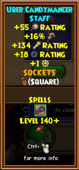 Wizard101 Level 140+ Gear Drops: Karamelle Gear Guide