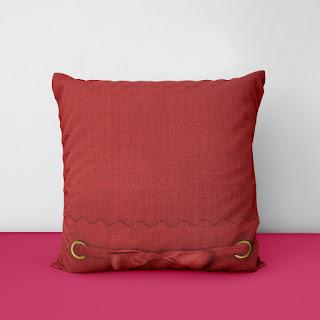 white velvet cushions