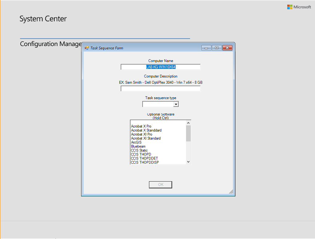 SCCM Task Sequence with GUI - How to install more then one