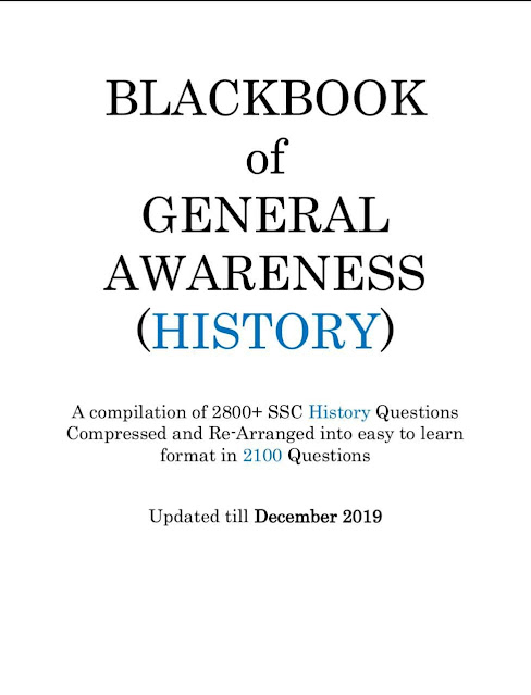 Blackbook of General Awareness (History): For All Competitive Exam  PDF Book