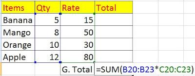 use Array Formula in Hindi