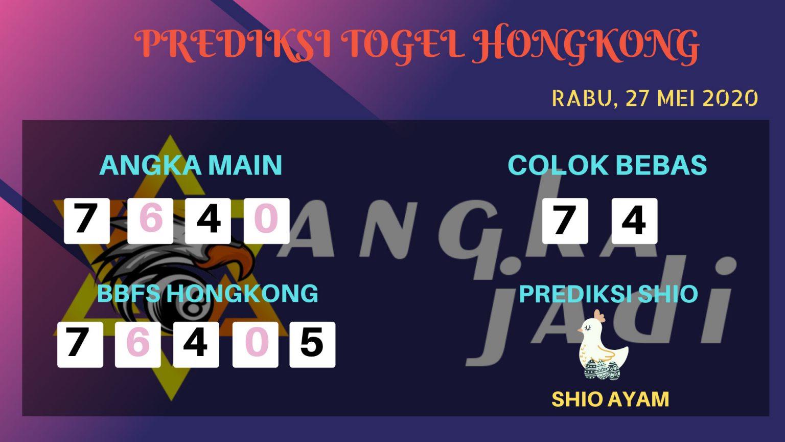 Prediksi Togel Hongkong Rabu 27 Mei 2020 - Bocoran HK