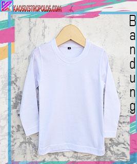 Kaos Polos Anak Lengan Panjang Warna Putih