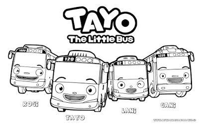 Gambar Tayo mewarnai