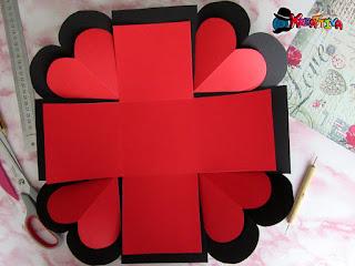 decorare interno scatola explosion box