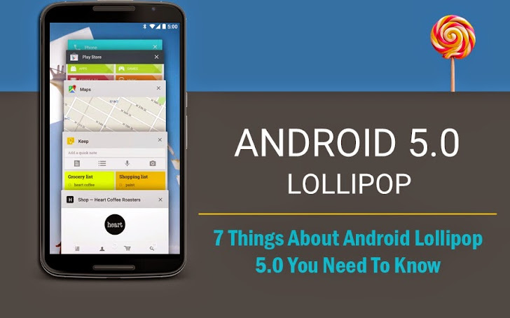 7 Things About Android Lollipop 5.0 You Need To Know