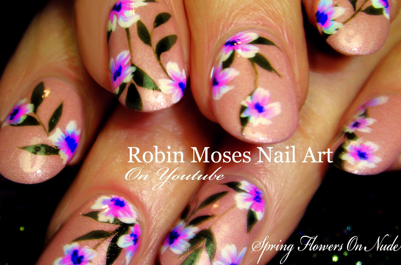 Nail Art by Robin Moses: Lavender Spring Flower Nail art Design ...