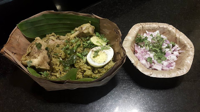 Chicken Biryani and Raita at Gundappa Donne Biryani