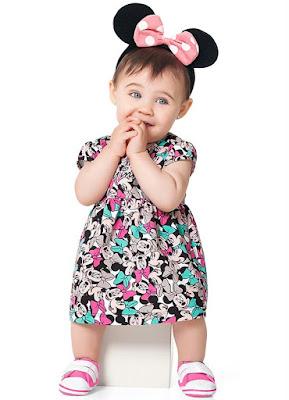 vestido bebe minnie