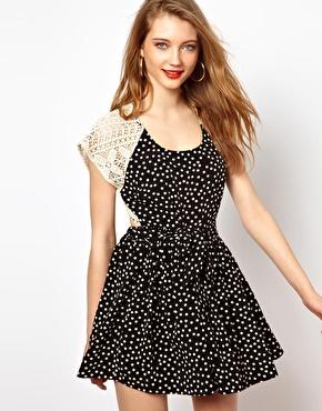 Polka Dot Tea Dress from Asos