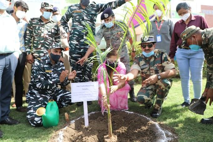 श्रीमंत यशोधरा राजे सिंधिया ने सीआरपीएफ कैंपस में किया बृक्षारोपण,देखिये पूरी खबर