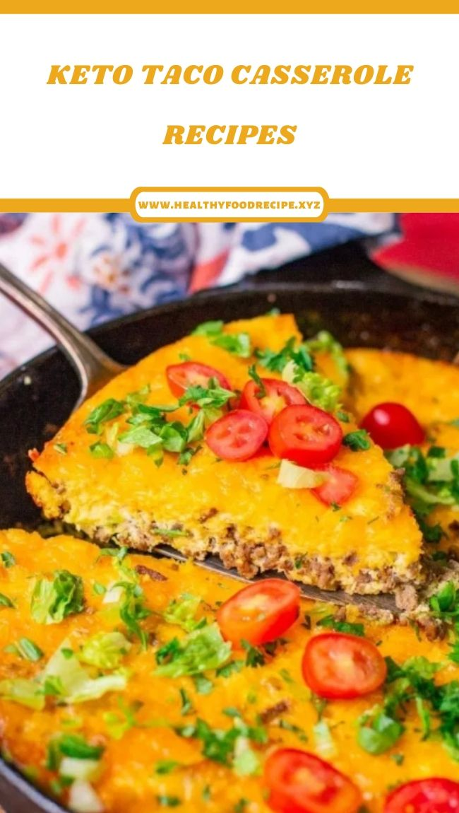 KETO TACO CASSEROLE RECIPES