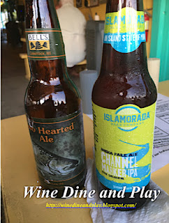 The Two Hearted Ale from Michigan and the Islamorada Channel Marker IPA from the Keys in Florida served at the Olde Fish House Marina, in Matlacha, Florida