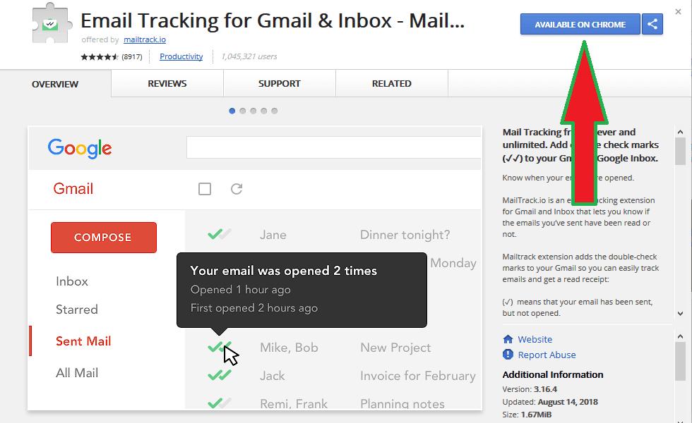 طريقة تتبع رسائل Gmail و معرفة هل تم فتحها