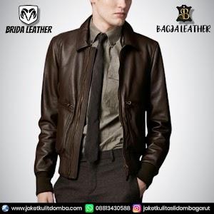 Jual Jaket Kulit Asli Garut Pria Domba Original Brida Leather B107 | WA 08813430588