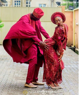Controversial Traditional Wedding Photo That Is Trending Online - Check out